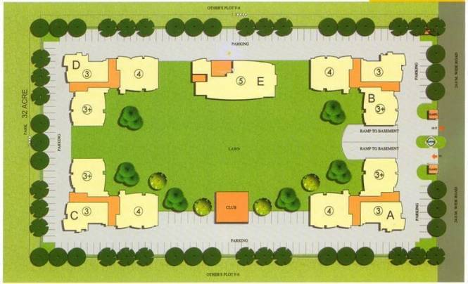 The Antriksh Greens Layout Plan