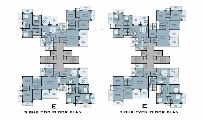 Kolte Patil 24K Sereno Cluster Plan