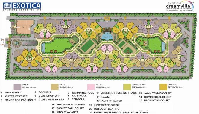 Exotica Dreamville Layout Plan