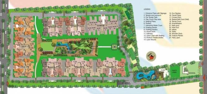 Gaursons Gaur Cascades Layout Plan