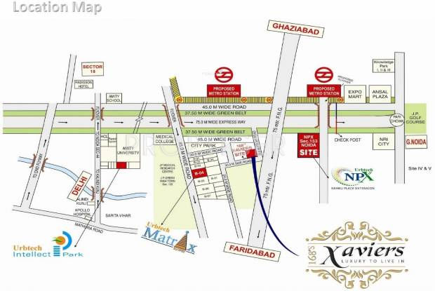 Urbtech Xaviers Location Plan
