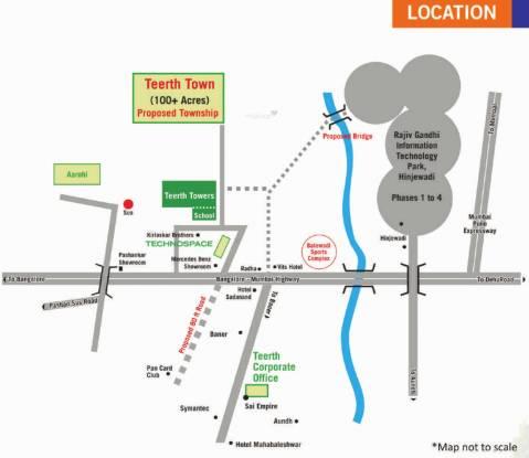 Teerth Towers Location Plan