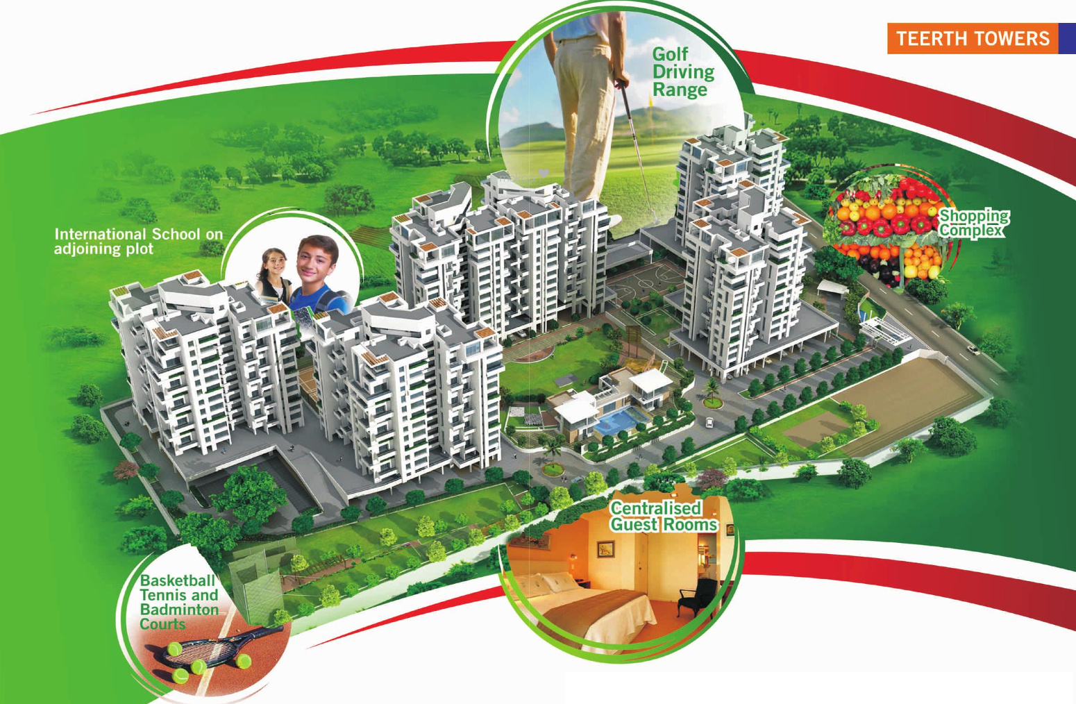 1123 sq ft 2BHK 2BHK+2T (1,123 sq ft) Property By Raviraj Real Estate In Towers, Sus