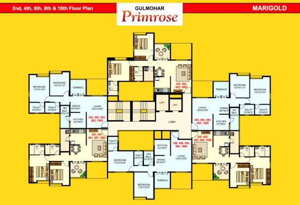 Gulmohar Primrose Cluster Plan