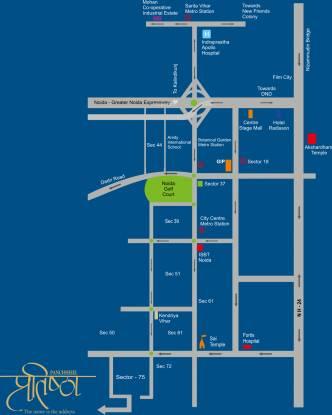 Panchsheel Pratishtha Location Plan