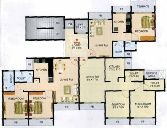 Ronak Residency Cluster Plan
