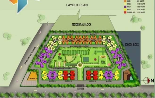 Galaxy North Avenue II Layout Plan