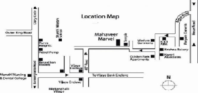 Mahaveer Marvel Location Plan