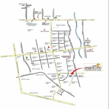 Gaursons Sports Wood Location Plan