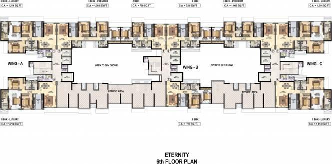 Raheja Reflections Eternity Cluster Plan