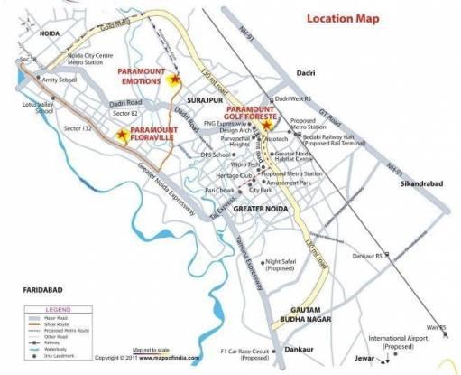 Paramount Golfforeste Location Plan