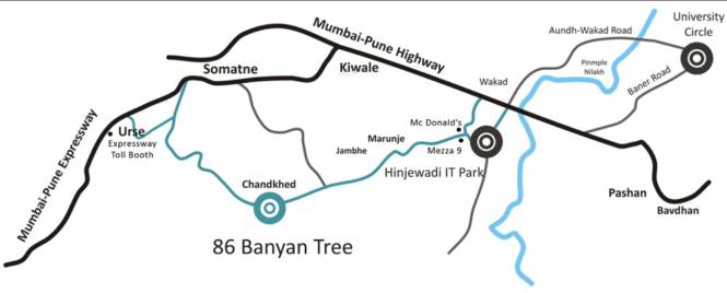Panchshil 86 Banyan Tree Location Plan