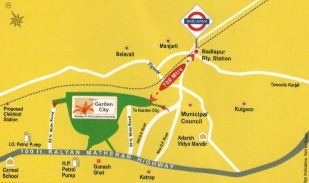 Pranjee Garden City Location Plan