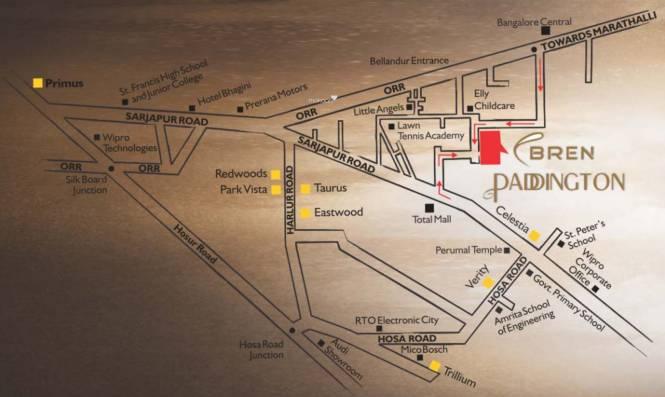Bren Paddington Location Plan