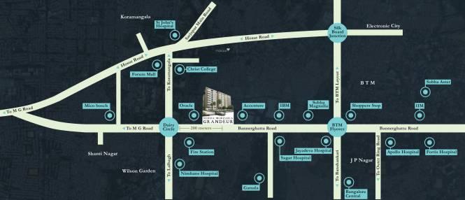 Sobha Morzaria Grandeur Location Plan
