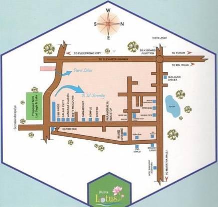 Purvi Purvi Lotus Location Plan