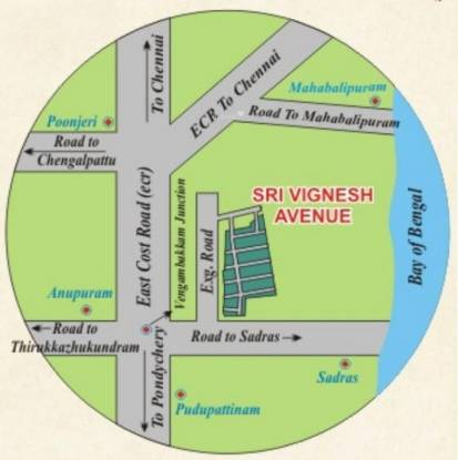 Lingavarthini Sri Vignesh Avenue Location Plan