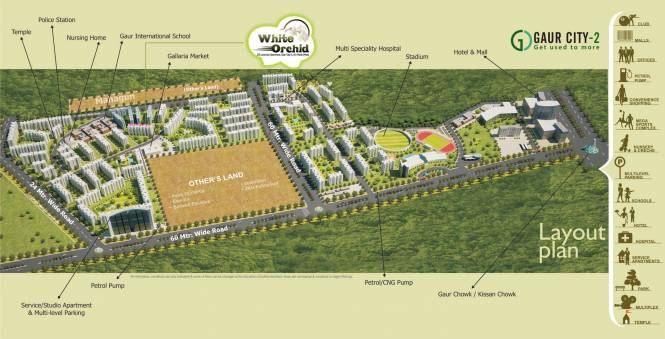 Town White Orchid Layout Plan
