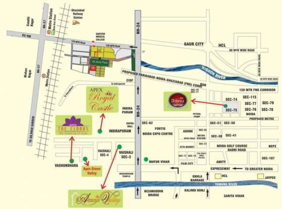 Apex Athena Location Plan