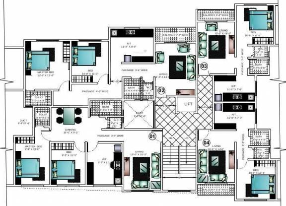 Ashapura Asha Paradise Cluster Plan