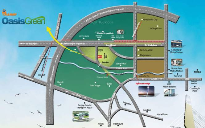 Magnum Oasis Green Location Plan