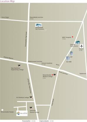 Muktha Triveni Location Plan