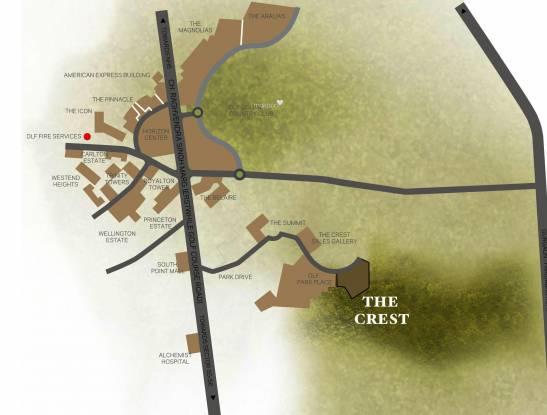 DLF The Crest Location Plan