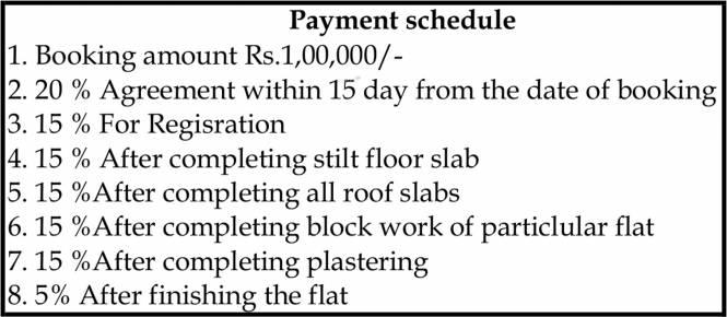 Ankshu Wisteria Payment Plan