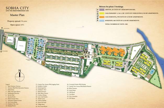 Sobha City Casa Serenita Master Plan
