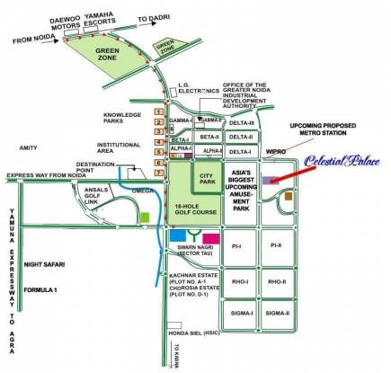 Celestial Celestial Palace Location Plan