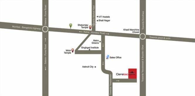 Ceratec City Location Plan