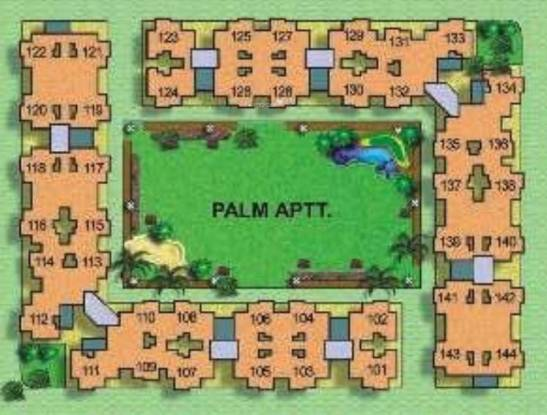 Cosmos Palm Apartment Layout Plan