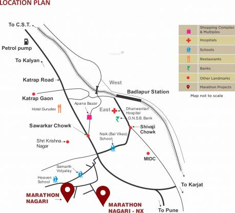 Marathon Nagari NX Location Plan