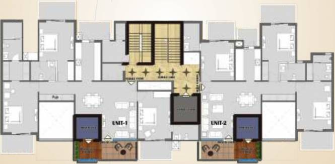 Rise Sky Bungalows Cluster Plan