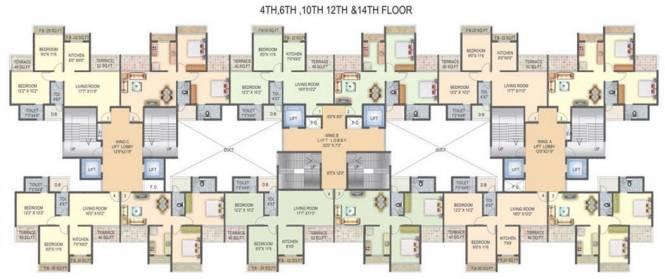 Sky Radhe Krishna Cluster Plan