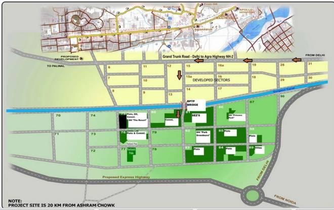 BPTP Park Grandeura Location Plan