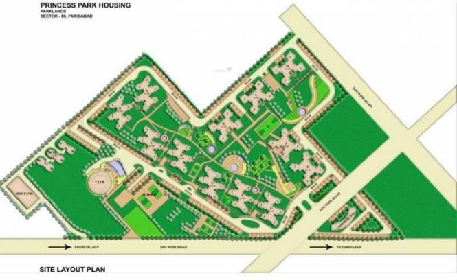 BPTP Princess Park Layout Plan