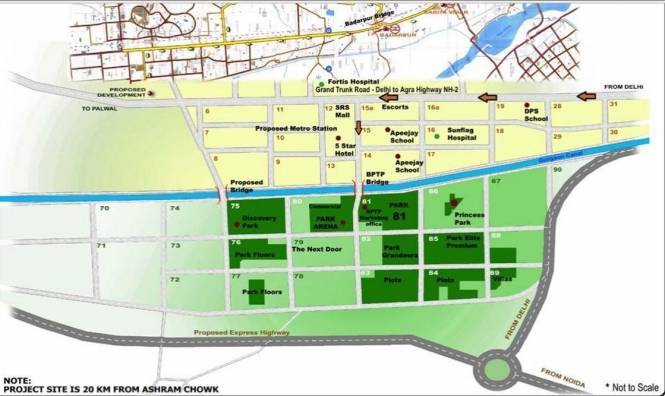BPTP Princess Park Location Plan