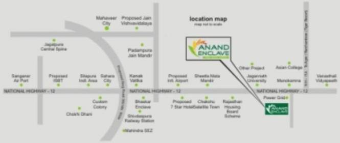 Anand Anand Enclave Location Plan