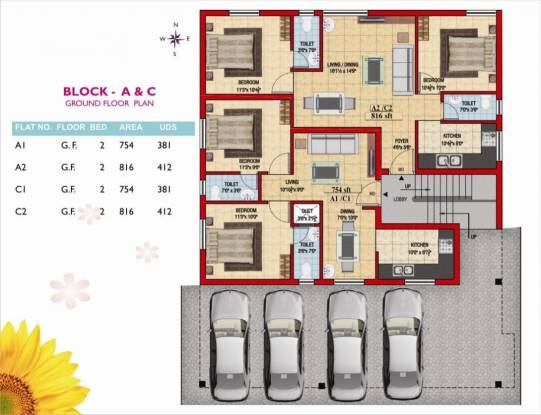 Colorhomes Golden Classic Cluster Plan