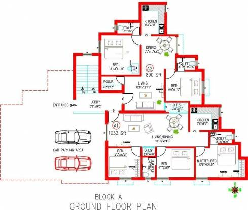 Colorhomes Blossom Avenue Cluster Plan