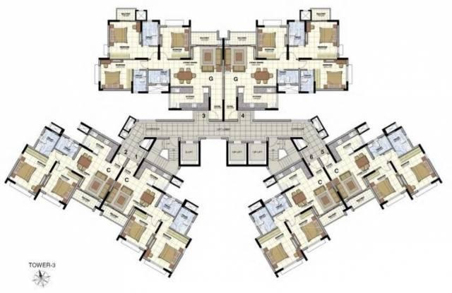 Prestige Norwood at Sunrise Park Cluster Plan