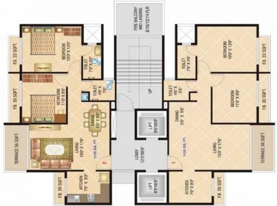 Dolphin Elite Residency Cluster Plan