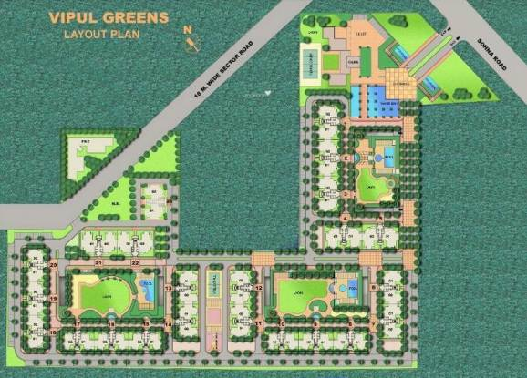 Vipul Greens Layout Plan