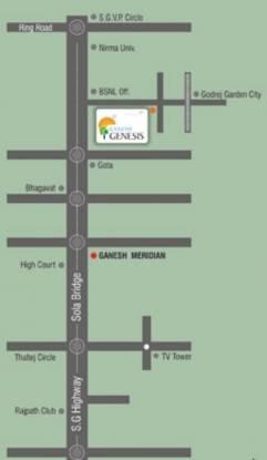 Shree Siddhi Ganesh Genesis Location Plan