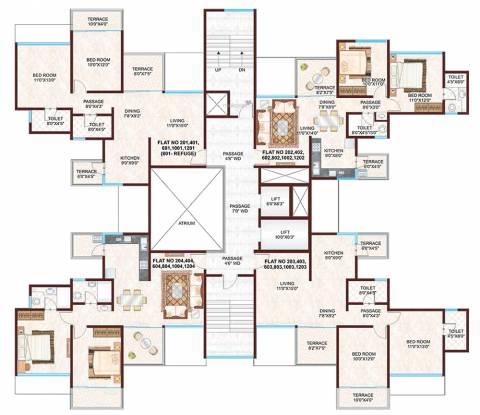 Pharande L Axis Cluster Plan