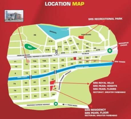 SRS SRS Residency Location Plan