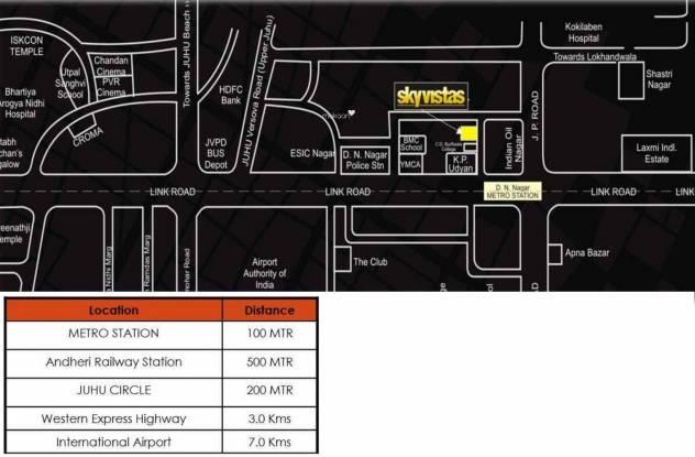 Bharat Skyvistas Location Plan