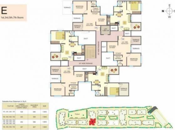 Essen Aishwaryam Courtyard Cluster Plan