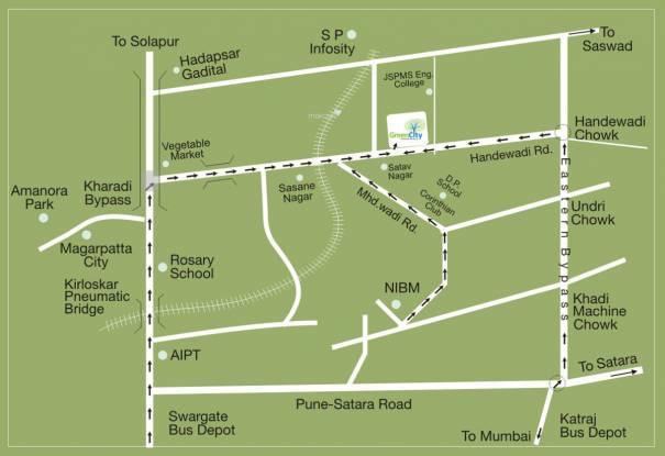 Arihant Green City Location Plan